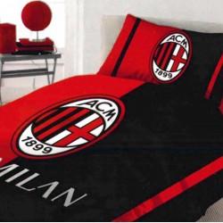 Milan Completo Letto, Cotone, Rosso/Nero, 150 x 295 cm/90 x 200 cm/52 x 80 cm