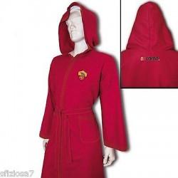AS Roma Accappatoio Microfibra con cappuccio colore rosso Taglie M-L-XL-XXL