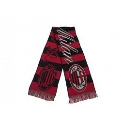 AC.Milan Sciarpa jacquard righe rosso/nero