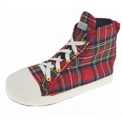 De Fonseca Pantofole Sneakers Rosso scozzese Microfibra 41/42-43/44-45/46 SFIZIOSA