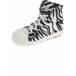 De Fonseca Pantofole a Forma Sneaker Zebrati Colore Bianco Misure 35/36-37/38-39/40