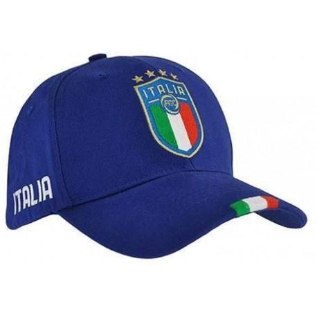 Italia FIGC Cappellino Ufficiale con stemma Larghezza regolabile