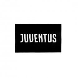 Juventus 3400 070 2131 Tappeto con Antiscivolo, Poliestere, Nero, 110x70x0.3 cm