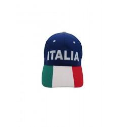 Cappellino Italia Colore Bianco Visiera Tricolore