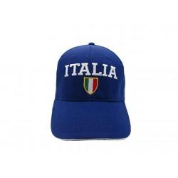 Cappellino Italia Colore Blu Visiera Tricolore