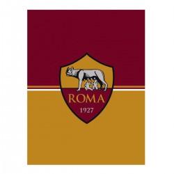 AS Roma Plaid Pile 120x150 Prodotto Ufficiale Colore Giallo Rosso